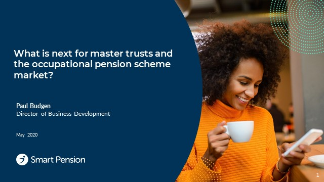 PMI NW Regional Group -The Future of Master Trusts and Single-Employer Trusts