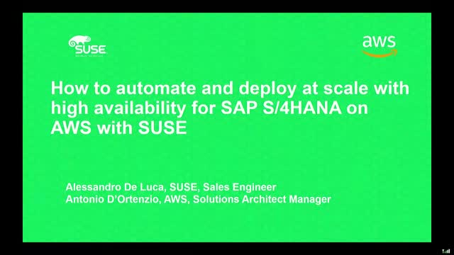 SAP HA with SUSE on AWS