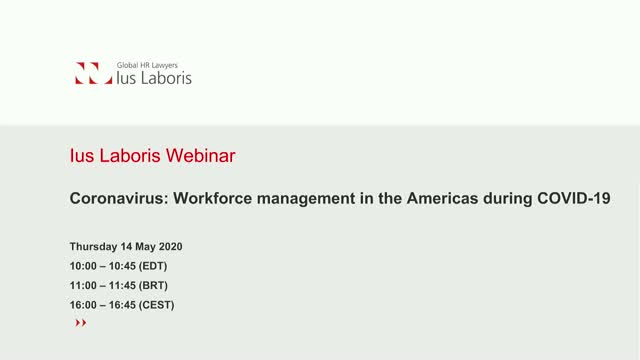 Coronavirus: Workforce management in the Americas during COVID-19