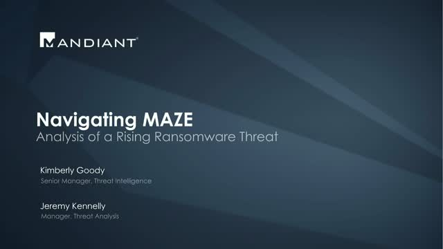Navigating MAZE: Analysis of a Rising Ransomware Threat