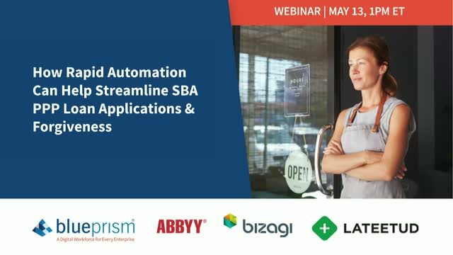 How Rapid Automation Can Help Streamline SBA PPP Loan Applications & Forgiveness