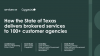 How the State of Texas delivers brokered services to 100+ customer agencies