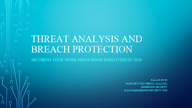 Threat Analysis and Breach Protection