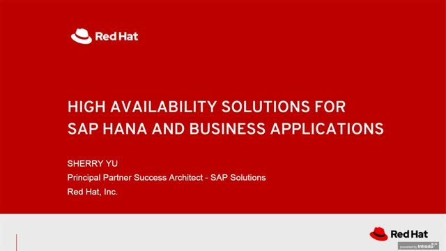 High-availability solutions for SAP HANA and SAP S/4HANA