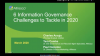 Six Information Governance Challenges to Tackle in 2020