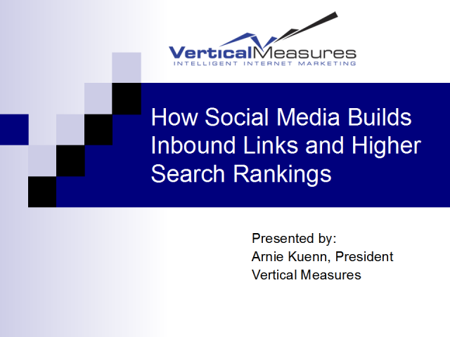 How Social Media Builds Inbound Links and High Search Rankings
