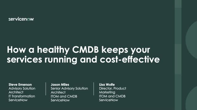 A successful CMDB deployment in five essential steps (Part 1 in CMDB series)