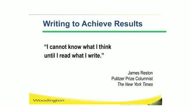 Writing to Achieve Results
