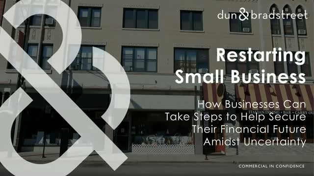 Join Dun & Bradstreet for a Live Webinar: Restarting Small Business