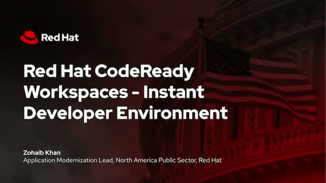 Red Hat CodeReady Workspaces - Instant Developer Environment