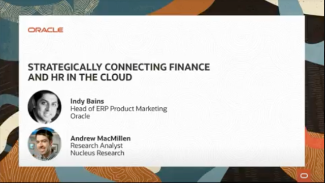 Strategically Connecting Finance and HR in the Cloud