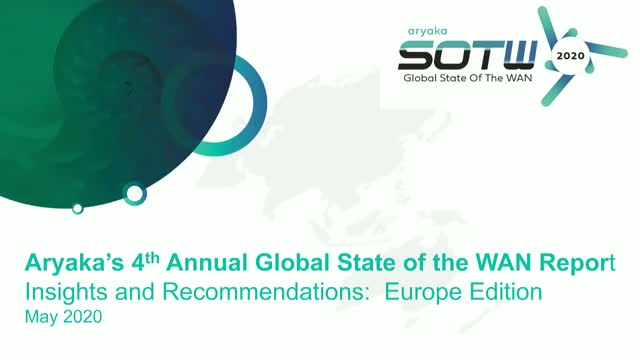 2020 Global The State of the WAN – EMEA Special Edition