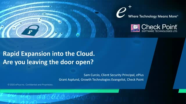 Rapid expansion into the cloud. Are you leaving the door open?