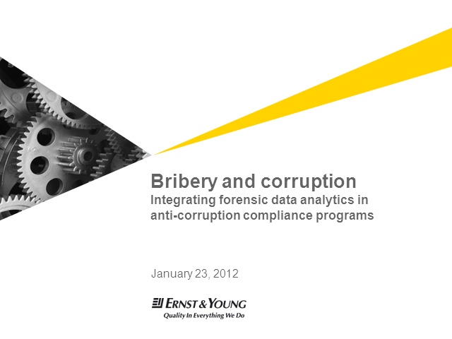 Integrating Forensic Data Analytics in Anti-Corruption Compliance Programs