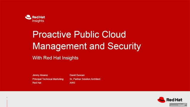 Proactive public cloud management and security with Red Hat Linux on AWS