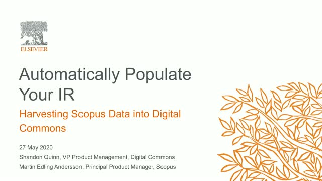 Automatically populate your IR: Harvesting Scopus data into Digital Commons