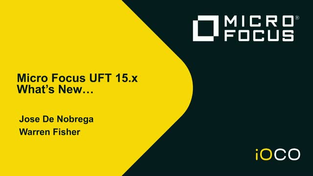 What's new in UFT 15.01?