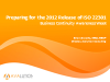 Preparing for the 2012 Release of ISO 22301