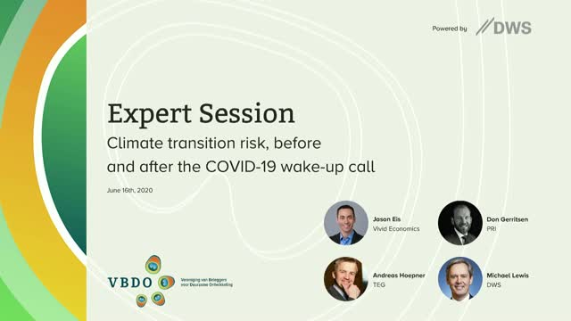 VBDO ONLINE EXPERT SESSION, powered by DWS