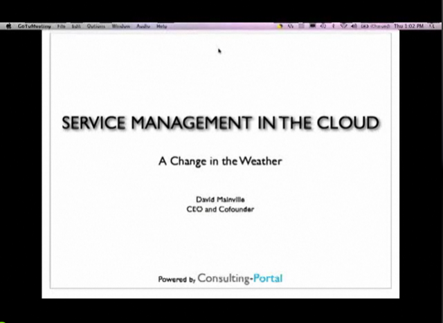 ITSM in the Cloud-A Change in the Weather