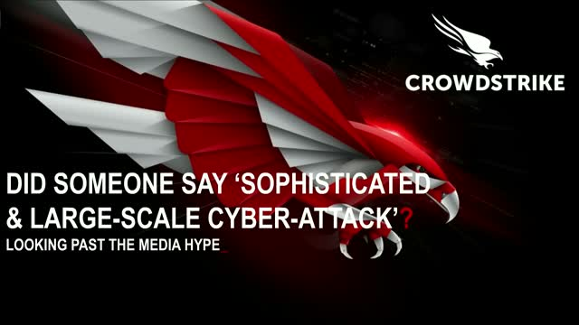 "Did someone say ""Sophisticated and large scale cyber attack?"""