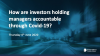 How are investors holding managers accountable through Covid-19?