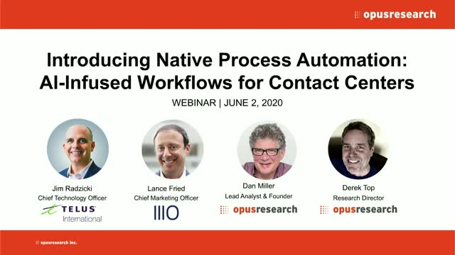 Introducing Native Process Automation: AI-Infused Workflows for Contact Centers