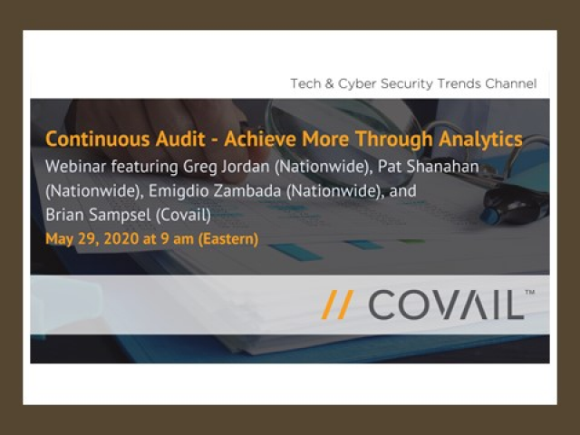 Continuous Audit - Achieve More Through Analytics