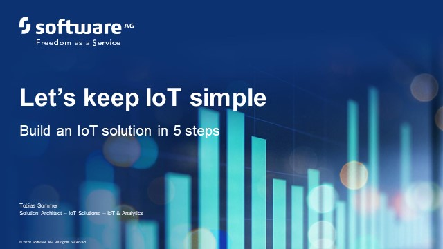 #1 Build an IoT solution in 5 steps with Cumulocity - Introduction