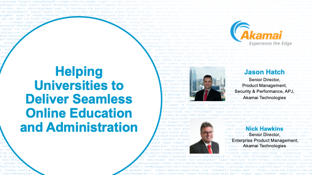 Helping Universities to Deliver Seamless Online Education and Administration