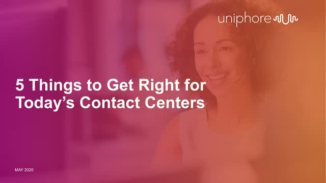 5 Things to Get Right for Today's Contact Centers