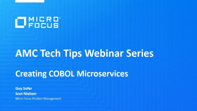 Tech Tips: Creating COBOL Microservices