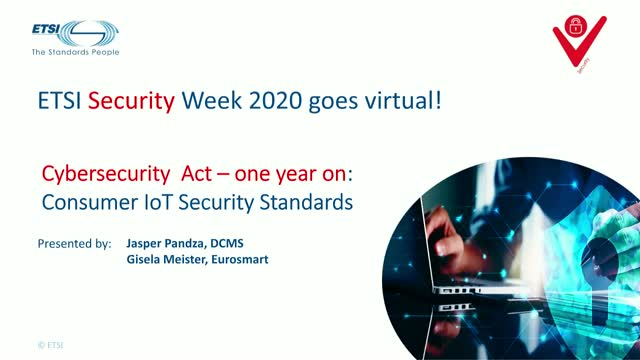ETSI Security Week: Consumer IoT security standards