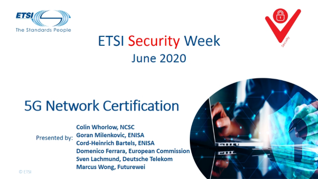 ETSI Security Week: 5G Network Certification