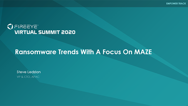Ransomware Trends with A Focus on MAZE