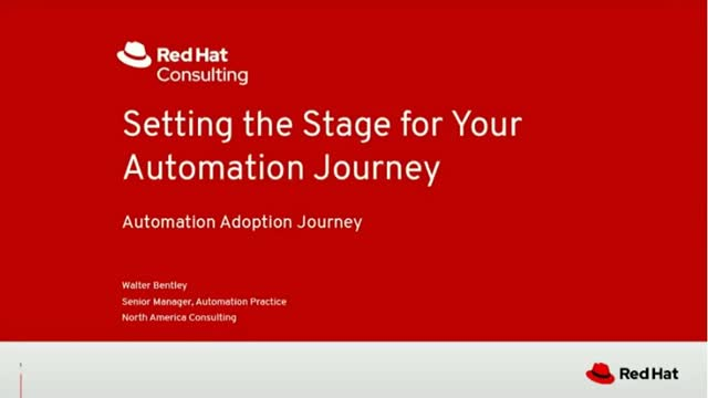 Setting the stage for your automation journey