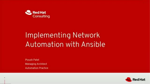 Implementing network automation with Ansible