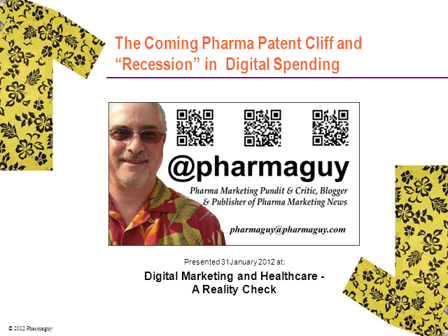 The Coming Patent Cliff and Recession in Pharma Digital Spending
