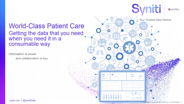 Helping you provide world-class patient care with the right data