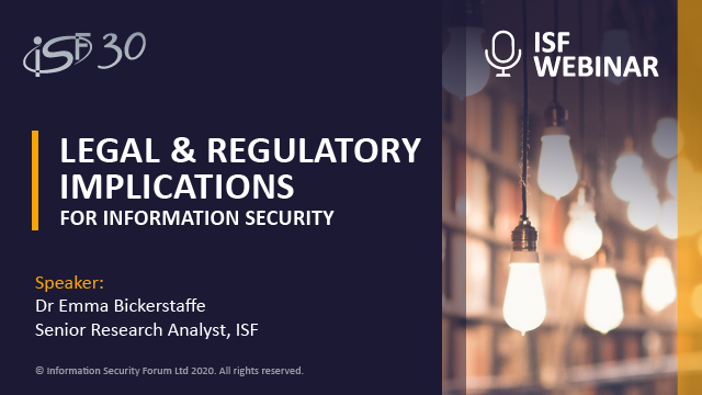 Legal and Regulatory Implications for Information Security
