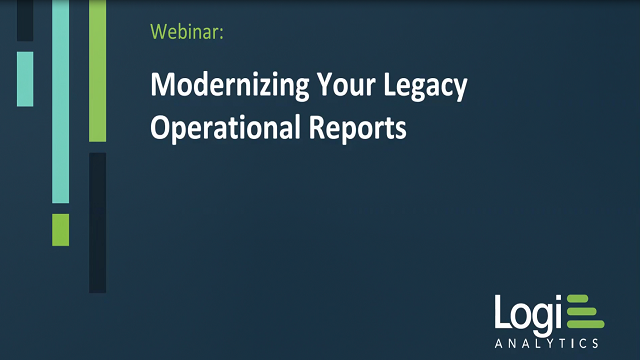 Modernizing Your Legacy Operational Reports