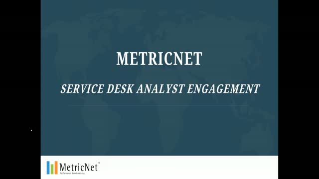 MetricNet Service Desk Analyst Engagement Scorecard Demo