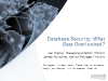 Database Security - What Gets Overlooked