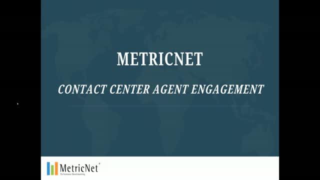 MetricNet Contact Center Agent Engagement Scorecard Demo