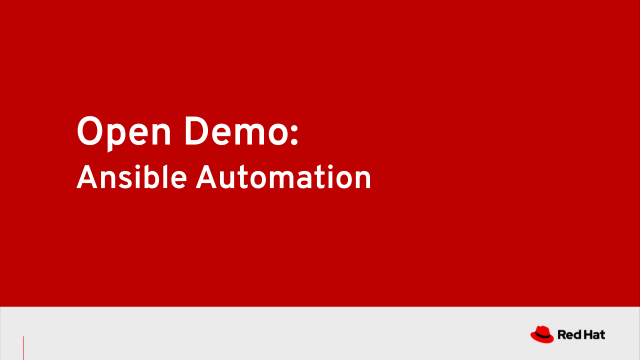Open Demo: Ansible Automation