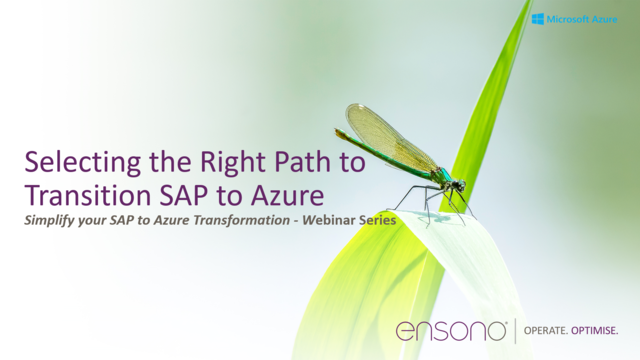 Selecting the right path to transition SAP to Azure