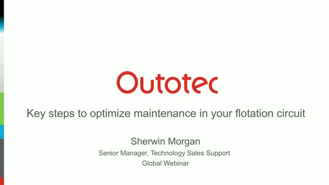 Key steps to optimise maintenance in your flotation circuit