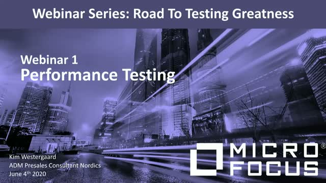 Road to testing greatness  - Exciting webinars in 3 parts