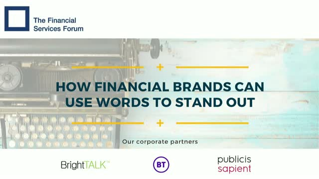 How Financial Brands Can Use Words to Stand Out