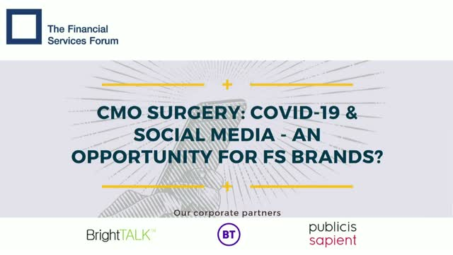 CMO Surgery - Covid-19 & Social Media, an Opportunity for FS Brands?